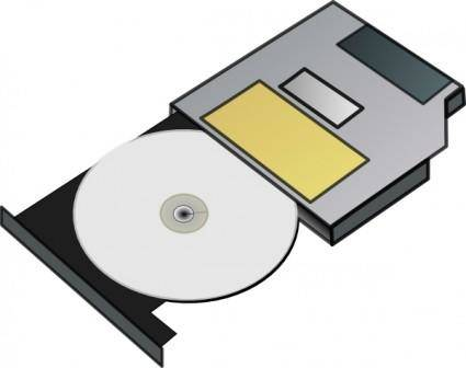 free vector Slim Cd Drive clip art