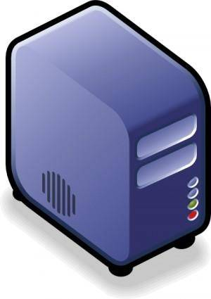 free vector Server Small Case Icon Blue clip art