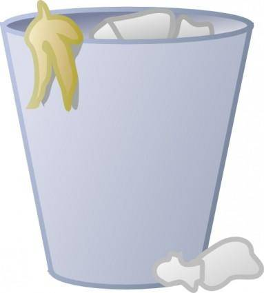 Full Trash Can clip art