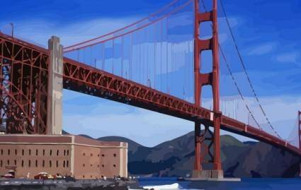 free vector Golden Gate Bridge vector