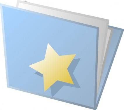 Starred Folder clip art