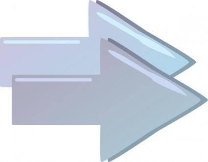 free vector Double Right Forward Arrows clip art
