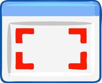 Full Screen Icon clip art