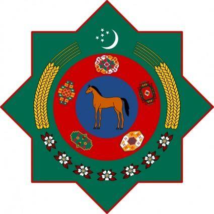 free vector Coat Of Arms Of Turkmenistan clip art