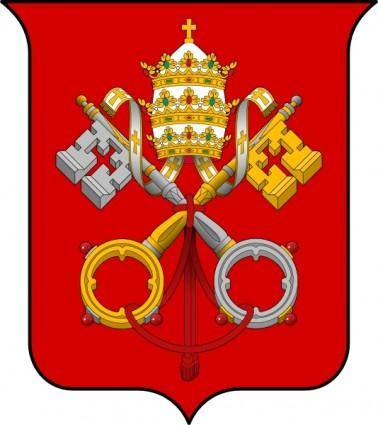 free vector Coat Of Arms Of The Vatican City clip art