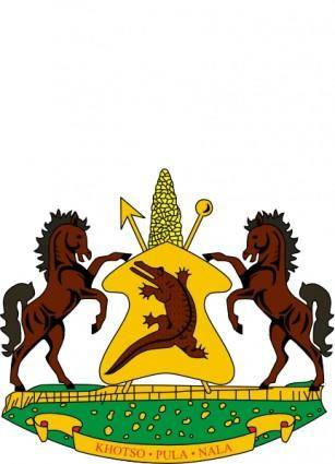 Coat Of Arms Of Lesotho clip art