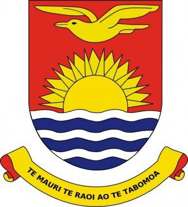 free vector Coat Of Arms Of Kiribati clip art