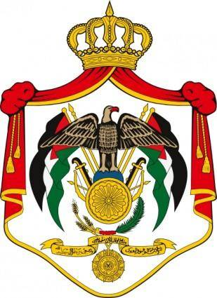 Coat Of Arms Of Jordan clip art