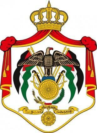 free vector Coat Of Arms Of Jordan clip art