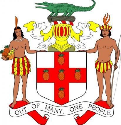Jamaica Coat Of Arms  clip art