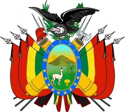 free vector Coat Of Arms Of Bolivia clip art