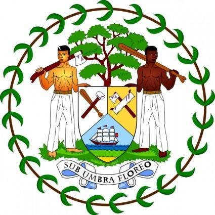 Coat Of Arms Of Belize clip art