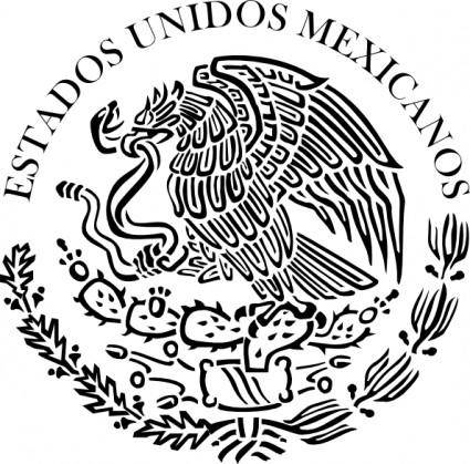 Seal Of The Government Of Mexico Linear clip art