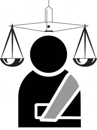 free vector Personal Injury Lawyer  clip art