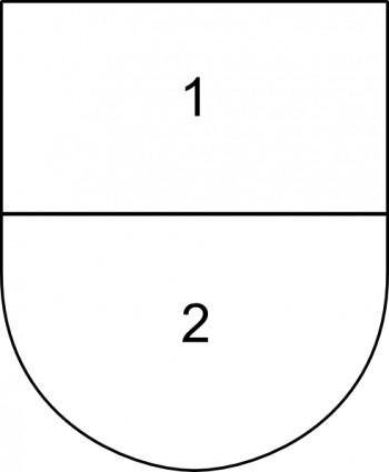 Partitioned Sheild clip art