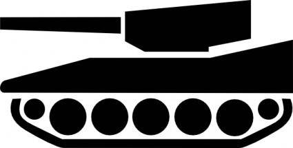 Tank Silhouette clip art