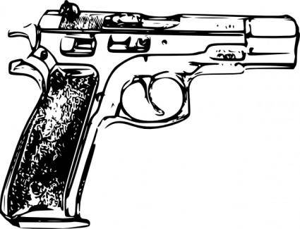 free vector Police Gun clip art