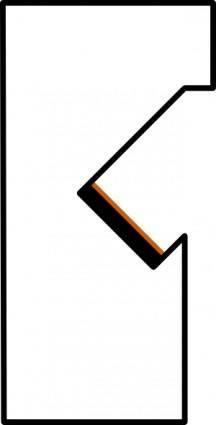 free vector Kit Left Arm Blackbrown Border clip art