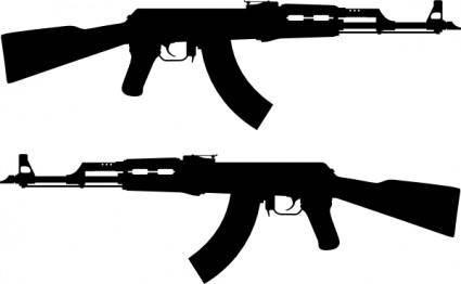 free vector Ak Rifle Silhouette clip art