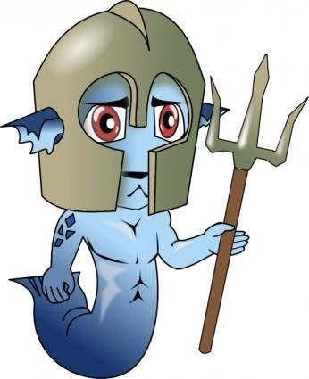Mermaid Man clip art