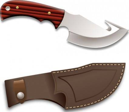 Hunter Knife clip art