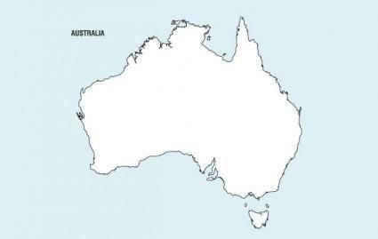 free vector Australia Map Vector