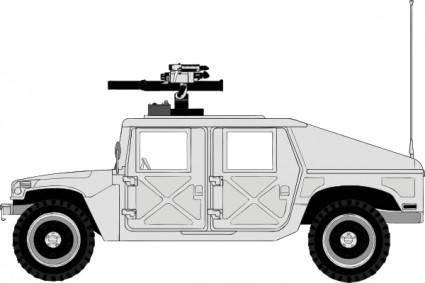 Armed Hummer clip art