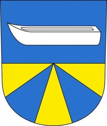 free vector Boat Water Lake Coat Of Arms clip art