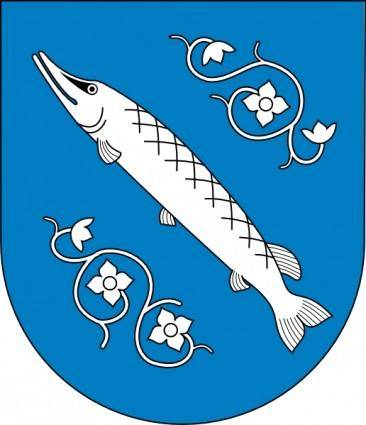 free vector Fish Sea Flowers Coat Of Arms clip art