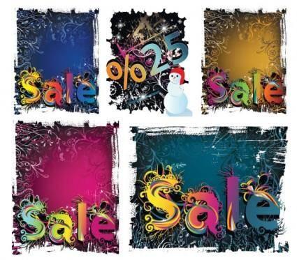 Winter discount sales vector