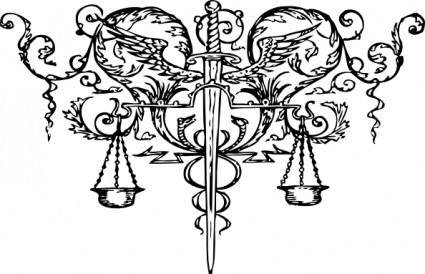free vector Sword Of Justice Tattoo clip art