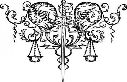 Sword Of Justice Tattoo clip art