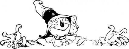 free vector Scarecrow Spreads Arms clip art