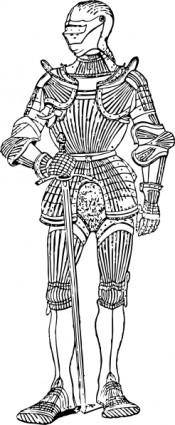 free vector Suit Of Armor Front clip art