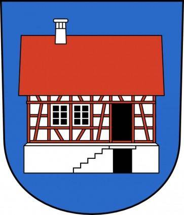 House Building Home Wipp Hausen Am Albis Coat Of Arms clip art
