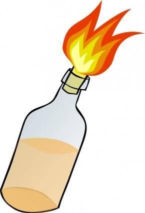 free vector Molotov Cocktail clip art