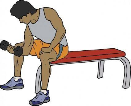 Dumbell Lifter clip art