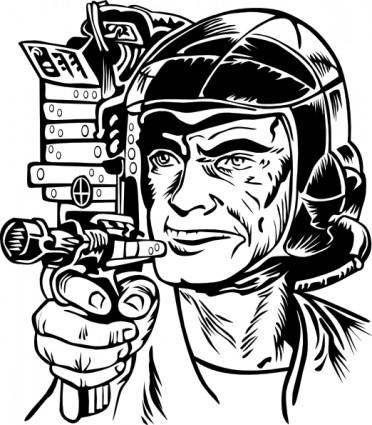 free vector Science Fiction Illustration clip art