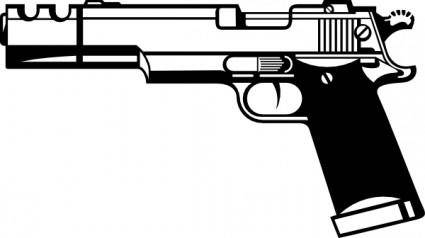 R D Gun clip art