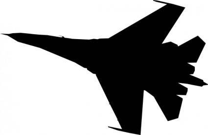 Airplane Fighter Silhouette clip art