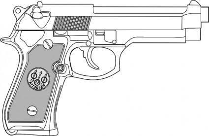 9 Mm Gun clip art