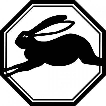 Rabbit Running Animal clip art