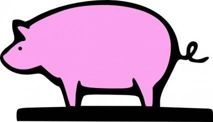 free vector Farming Pig Animal clip art