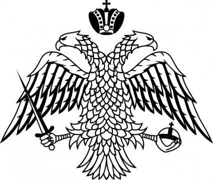 free vector Double Headed Eagle Byzantine Empire Coat Of Arms clip art