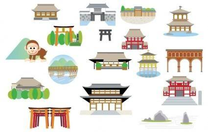free vector Japanese Structure