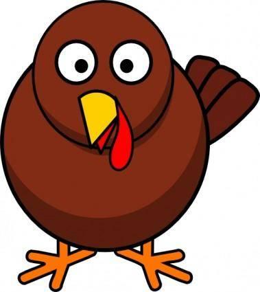 Turkey Round Cartoon clip art