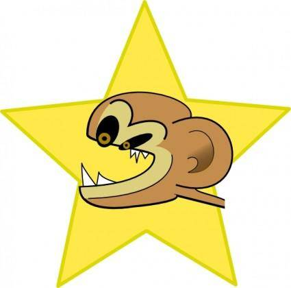 Crazy Monkey clip art