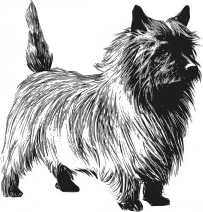 free vector Cairn Terrier clip art