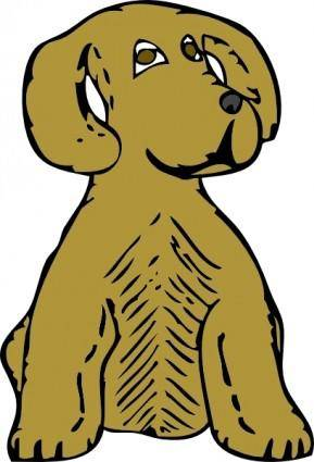 Dog Front View clip art