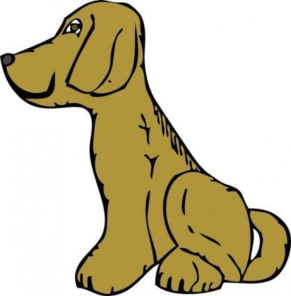Dog Side View clip art
